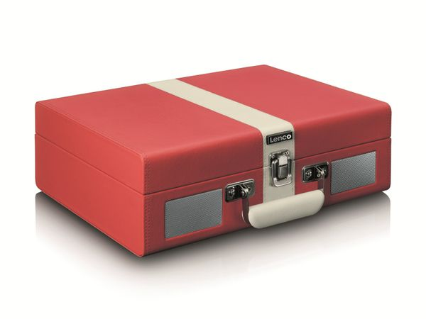 Plattenspieler LENCO TT-110, Retro-Stil, Bluetooth, int. Lautsprecher, rot - Produktbild 5