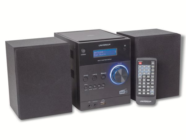 Stereoanlage UNIVERSUM MS 300-21, CD, DAB+ Radio, Bluetooth, USB, schwarz