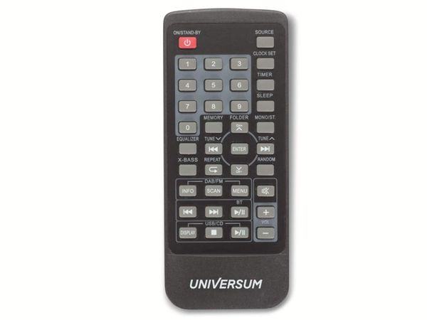 Stereoanlage UNIVERSUM MS 300-21, CD, DAB+ Radio, Bluetooth, USB, silber - Produktbild 4