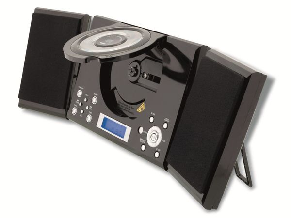 Stereoanlage ROXX MC 201, CD, Radio, schwarz - Produktbild 5