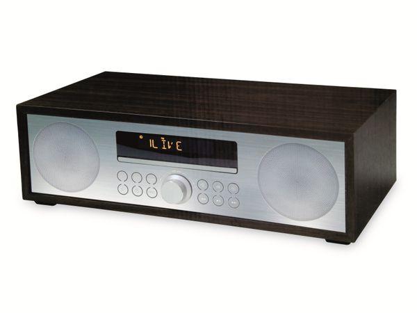 UKW-Radio, MCD 264, dunkelbraun, mit CD Spieler