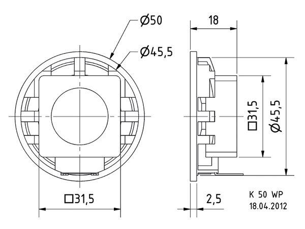 Kleinlautsprecher VISATON K 50 WP - 50 Ω - Produktbild 3