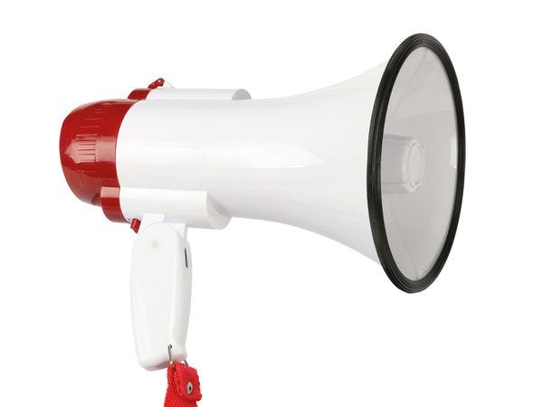 Mini-Megafon mit Aufnahmefunktion PremiumBlue MF-15W/WR-REC - Produktbild 1