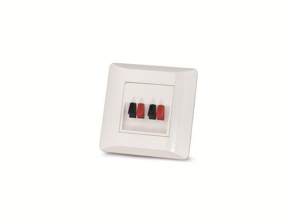 Wand-Anschlussterminal für Lautsprecher DYNAVOX, UP, weiss - Produktbild 2