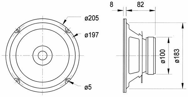 Breitbandlautsprecher VISATON BG 20, 8 Ohm - Produktbild 2