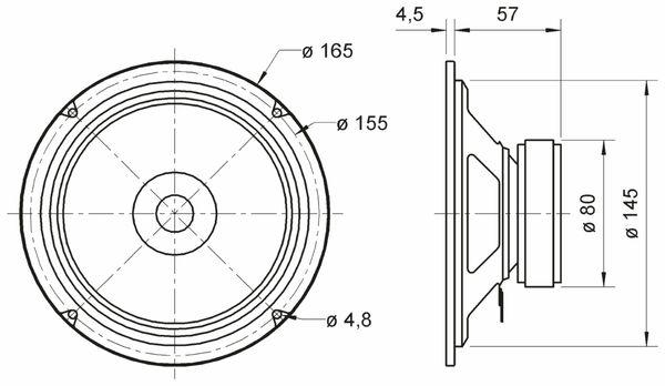 Breitbandlautsprecher VISATON BG 17, 8 Ohm - Produktbild 3