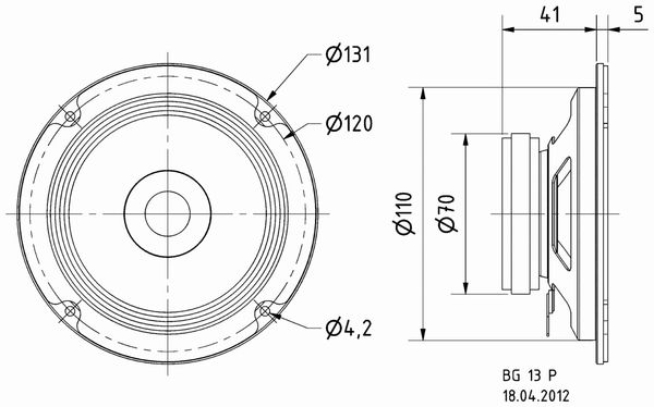 Breitbandlautsprecher VISATON BG 17, 8 Ohm - Produktbild 4