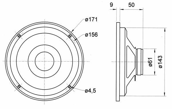 Breitbandlautsprecher VISATON FR 6.5, 8 Ohm - Produktbild 4