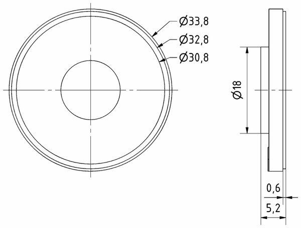 Kleinlautsprecher VISATON K 34 WP, 8 Ohm - Produktbild 3