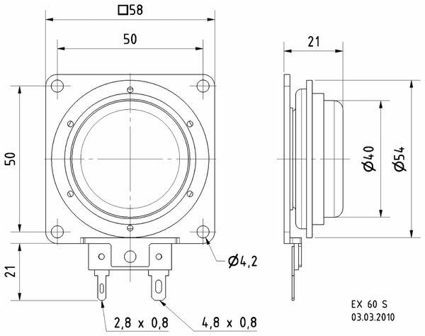 Exciter VISATON EX 60 S, 4 Ohm - Produktbild 3