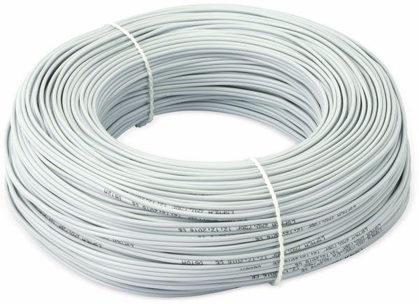 Lautsprecherkabel, 2x0,75 mm², 100m, grau, CCA - Produktbild 2