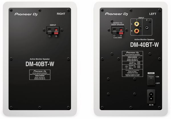 "Aktiv-Lautsprecher PIONEER DJ DM-40BT, weiß, 4"", Bluetooth - Produktbild 3"