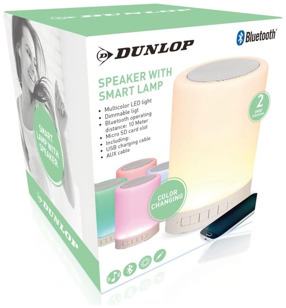 Bluetooth Lautsprecher DUNLOP, 3 W, LED-Licht