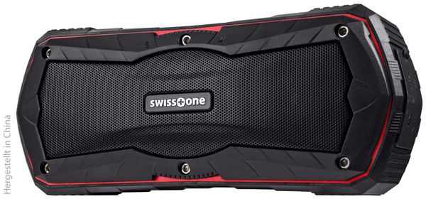 Bluetooth Lautsprecher SWISSTONE BX 310, schwarz/rot, Powerbank, 2x5 W - Produktbild 2
