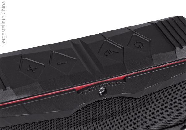 Bluetooth Lautsprecher SWISSTONE BX 310, schwarz/rot, Powerbank, 2x5 W - Produktbild 3