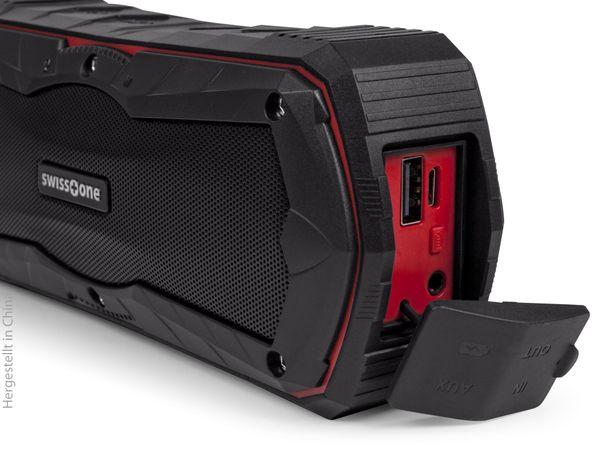 Bluetooth Lautsprecher SWISSTONE BX 310, schwarz/rot, Powerbank, 2x5 W - Produktbild 4