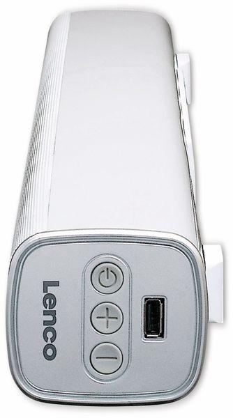 Soundbar LENCO SB-081WH, Bluetooth, USB, silber - Produktbild 2