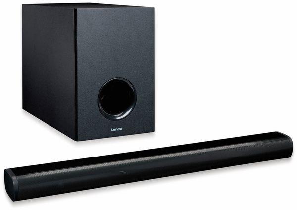 Soundbar LENCO SBW-800, Bluetooth, USB, mit Subwoofer, schwarz