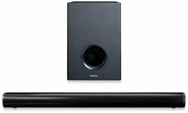 Soundbar LENCO SBW-800, Bluetooth, USB, mit Subwoofer, schwarz - Produktbild 3
