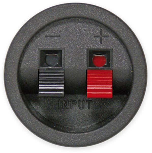 Lautsprecher-Anschlussterminal, rund