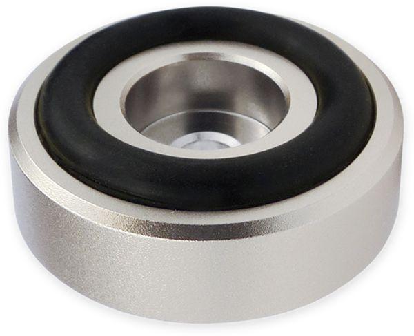 Gerätefüsse DYNAVOX, Aluminium, silber, 4 Stück