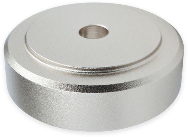 Gerätefüsse DYNAVOX, Aluminium, silber, 4 Stück - Produktbild 2