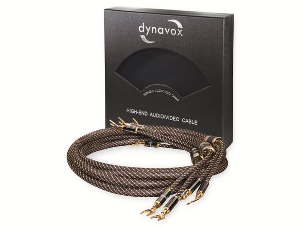 Lautsprecherkabel DYNAVOX Black Line, 3 m, 4 mm², OFC, Cinchstecker - Produktbild 3