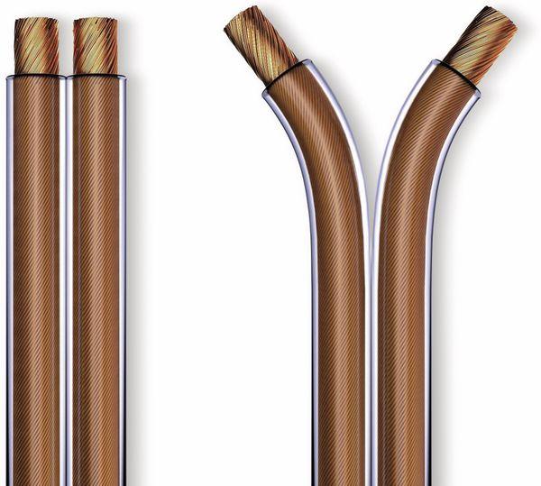 Lautsprecherkabel PURELINK, 2x1,5 mm², 50 m, transparent, OFC - Produktbild 2