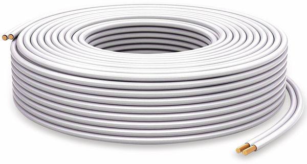 Lautsprecherkabel PURELINK, 2x1,5 mm², 50 m, weiß, OFC - Produktbild 2