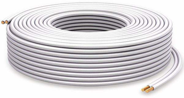 Lautsprecherkabel PURELINK, 2x2,5 mm², 30 m, weiß, OFC - Produktbild 2