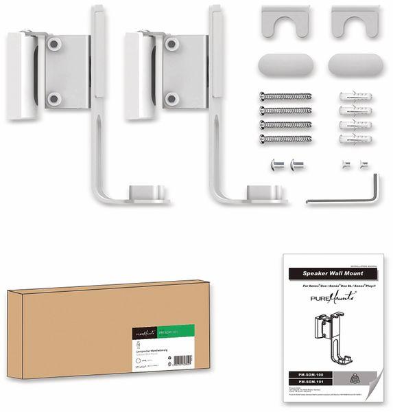 Lautsprecher-Wandhalterung PUREMOUNTS PM-SOM-101, für Sonos One, SL, Play1 - Produktbild 4