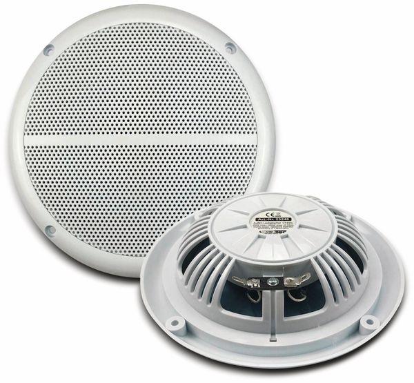 """Außen-Lautsprecher CHILITEC CT-65SL, wasserfest, SlimDesign 6,5"""", 100 W, weiß"""