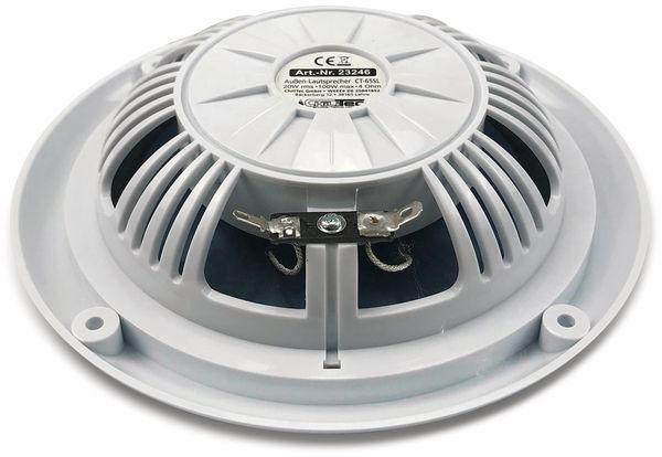 """Außen-Lautsprecher CHILITEC CT-65SL, wasserfest, SlimDesign 6,5"""", 100 W, weiß - Produktbild 3"""