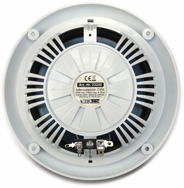 """Außen-Lautsprecher CHILITEC CT-65SL, wasserfest, SlimDesign 6,5"""", 100 W, weiß - Produktbild 5"""