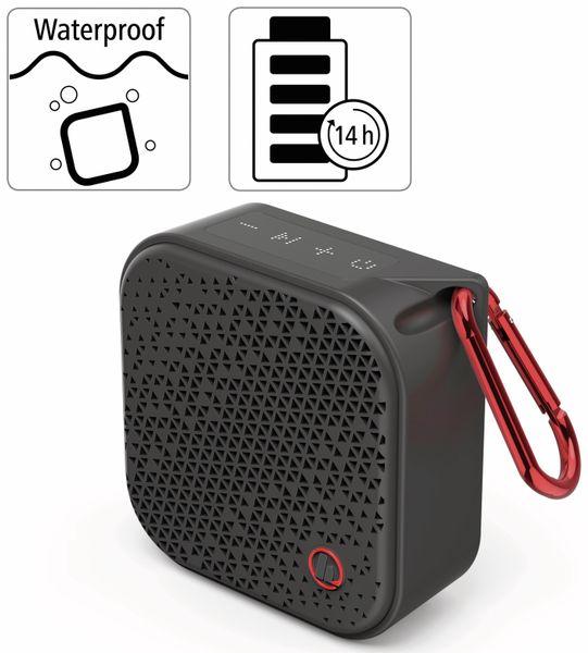 Bluetooth Lautsprecher HAMA Pocket 2.0, 3,5 W, wasserdicht, schwarz - Produktbild 3