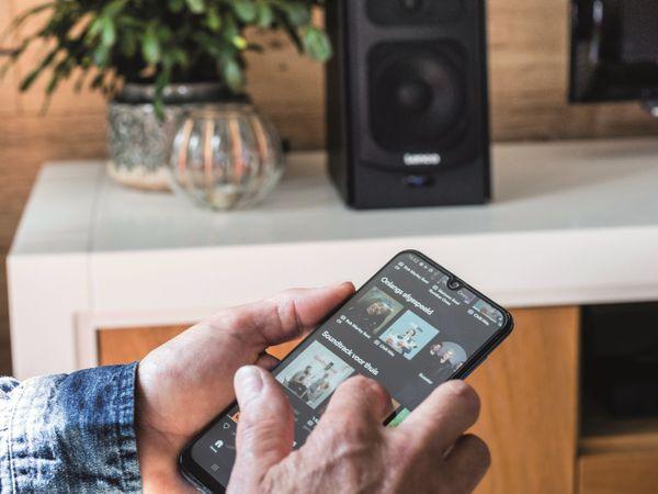Aktiv-Lautsprecher LENCO SPB-260BK, 2x 60 W RMS, Bluetooth, schwarz - Produktbild 3