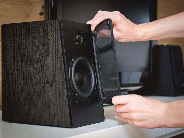Aktiv-Lautsprecher LENCO SPB-260BK, 2x 60 W RMS, Bluetooth, schwarz - Produktbild 7