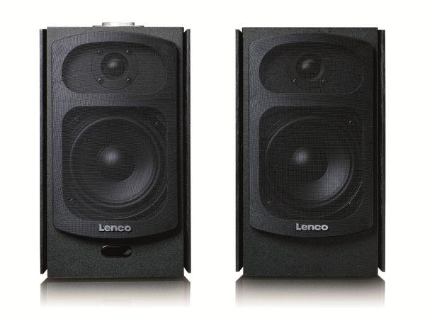Aktiv-Lautsprecher LENCO SPB-260BK, 2x 60 W RMS, Bluetooth, schwarz - Produktbild 8