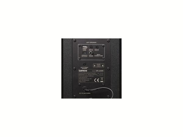 Aktiv-Lautsprecher LENCO SPB-260BK, 2x 60 W RMS, Bluetooth, schwarz - Produktbild 11