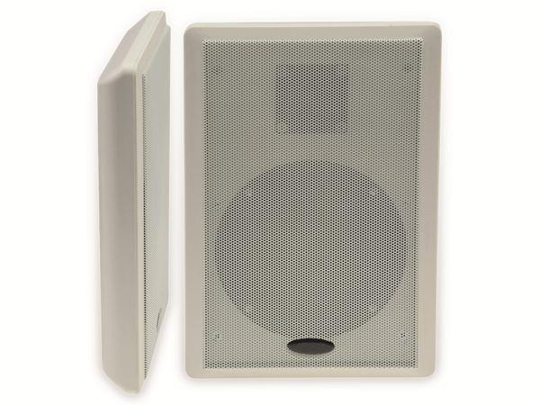 Flach-Lautsprecher CHILITEC 17804, 40 W, weiß, 2 Stück