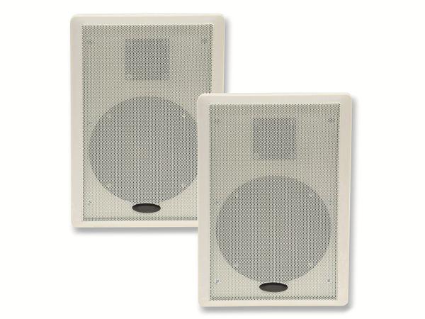 Flach-Lautsprecher CHILITEC 17804, 40 W, weiß, 2 Stück - Produktbild 3