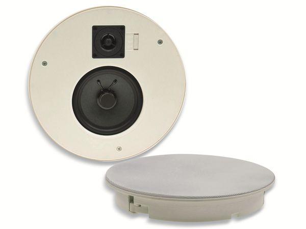 Einbaulautsprecher CHILITEC CTE-26R, 120 W, rund, weiß