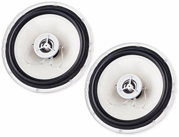 2-Wege-Koax-Lautsprecher HAMA 136681, 30/150 W, 2 Stück, weiß - Produktbild 1