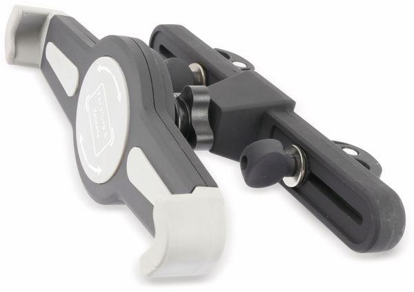 Kopfstützenhalterung für Tablet 17,78...26,42 cm, mit KFZ-USB-Lader 2,1A/1A - Produktbild 2