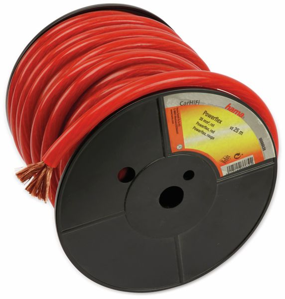 Batterie- und Massekabel HAMA, 25 m, 35 mm², rot