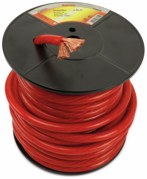 Batterie- und Massekabel HAMA, 25 m, 35 mm², rot - Produktbild 2