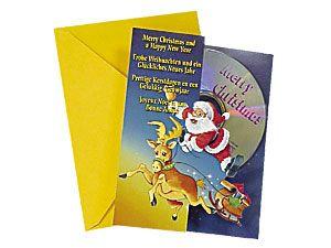 Weihnachts-CD mit Karte