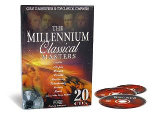 "CD-Sammlung ""The Millenium Classical Masters"""