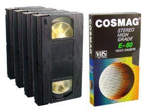 VHS-Videokassetten E60