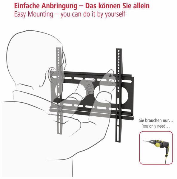 """Wandhalterung HAMA FIX, 142 cm (56""""), Schwarz - Produktbild 4"""